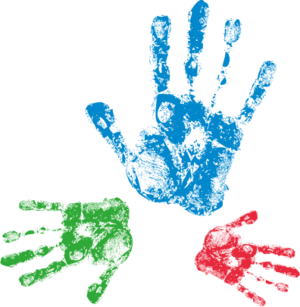 Individual Therapy for Adults & Young People. Hand prints