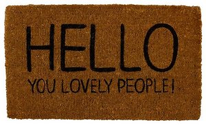 Home. welcome mat
